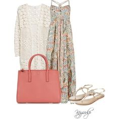 M&S pure cotton floral maxi dress