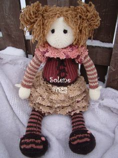 Knitting Pattern Large Rag Doll : 1000+ images about Knitting Dolls on Pinterest Knitted ...