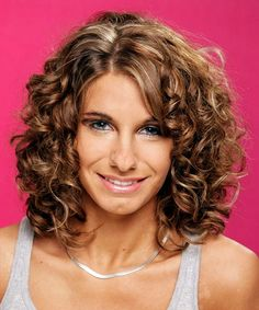 Easy medium length curly hairstyles with side bangs