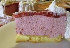 Epres-joghurtos torta diétásan Vanilla Cake, Tiramisu, Food And Drink, Desserts, Recipes, Erika, Diet, Tailgate Desserts, Deserts