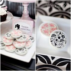 paris-inspired oreos by sweeties from kate's party