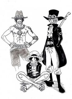 Ace, Sabo and Luffy One Piece Manga, One Piece Series, Manga Anime, Anime Siblings, Dragon Ball Z Shirt, Ace Sabo Luffy, Best Anime Shows, Wattpad, Fan Art