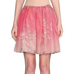 Giorgio Armani Printed Silk Organza Skirt ($1,995) ❤ liked on Polyvore featuring skirts, apparel & accessories, pink, long pink maxi skirt, pink maxi skirt, long pink skirt, long maxi skirts and pink skirt