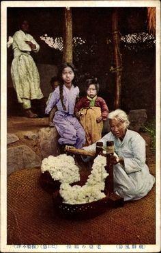 Postcard Japan, Ginning cotton