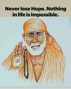 Sai Baba Pictures, God Pictures, Spiritual Religion, Spiritual Quotes, Gods Plan Quotes, Indian Spirituality, Saints Of India, Sanskrit Quotes, Sai Baba Quotes
