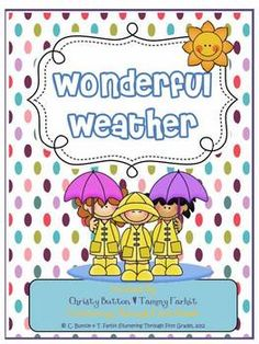 This Wonderful Weather Unit will build essential speaking, listening, vocabulary, and writing skills for your young learners.