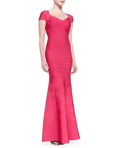 Karin Signature Essential Bandage Gown by Herve Leger at Neiman Marcus.