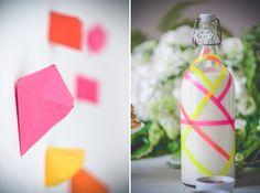 Origami pour une décoration de mariage colorée - Crédit Photo: Ce jour-là - Papeterie/Déco: Happily Factory - La Fiancée du Panda Blog Mariage et Lifestyle
