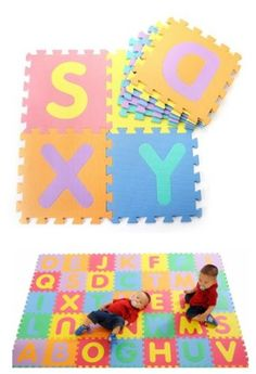 Baby Toddler Kid EVA Foam Puzzle Crawl Play Mat Crawling Mat Letters