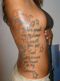 Sexy Side Body Love Quote Piece Combined With Sensuous Color Pattern