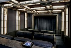 Home Theaters - traditional - media room - los angeles - Roberts Home Audio and . Home Theaters – traditional – media room – los angeles – Roberts Home Audio and Video Inc. Best Home Theater, Home Theater Rooms, Home Theater Design, Cinema Room, Art Deco Curtains, Rich Home, Black Curtains, Decoration, House Design