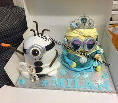 'Frozen' Minion Cakes