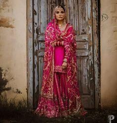 Indian Suits, Punjabi Suits, Indian Wear, Nikkah Dress, Pakistani Dresses, Party Wear Dresses, Bridal Dresses, Nimrat Khaira, Sikh Bride
