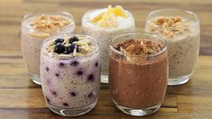 Overnight Oats – 5 Easy & Healthy easy overnight oats recipes - easy make ahead breakfasts are very important to many people who do not have time to prepare a healthy breakfast every. Healthy Porridge Recipe, Porridge Recipes, Oats Recipes, Blueberry Overnight Oats, Easy Overnight Oats, Easy Healthy Recipes, Healthy Snacks, Easy Meals, Dessert Mousse