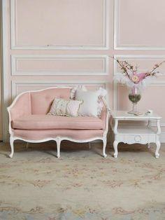 Feminine and romantic but not twee... we love dusky pink #interiors