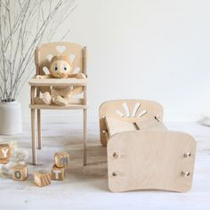 Handmade wooden toy fire station designed and made in Australia from sustainably sourced plywood. Handmade Wooden Toys, Mini Me, Chair, Furniture, Games, Nice, Design, Home Decor, Decoration Home
