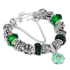 Beads & Jewelry Making Jewelry & Accessories Objective Spinner Multi-colored Crystal Bead Fit Pandora Charm Bracelet For Gift Jewelry Wholesale Gift Attractive And Durable