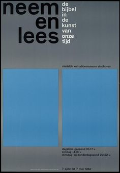 Wim Crouwel - Neem en lees (Take a lesson, the Bibel in the Art of our time)  Stedelijk Van Abbemuseum, Eindhoven