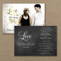 Chalkboard wedding style just got glamorous. The design is printed in gold foil on this black wedding invitation to make your big news sparkle. Wedding Invitation Trends, Chalkboard Wedding Invitations, Black And White Wedding Invitations, Traditional Wedding Invitations, Photo Wedding Invitations, Wedding 2015, Wedding Blog, Wedding Stuff, Wedding Ideas
