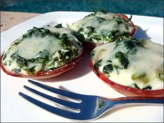 Canadian Bacon, Spinach and Egg Cups