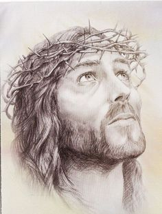 Images Du Christ, Pictures Of Christ, Religious Pictures, Religious Art, Christus Tattoo, Jesus Drawings, Easy Drawings, Jesus Christus, Jesus Face