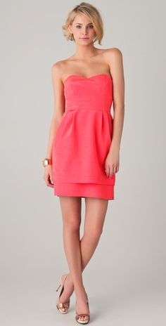 Kiley Strapless Dress with Double Skirt