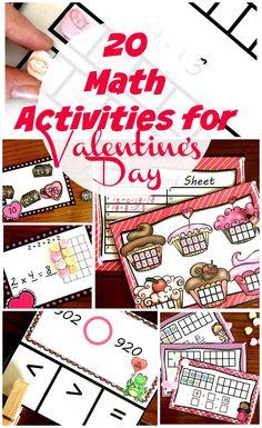20 Valentine Math Activities For Kindergarten Through 5th Graders