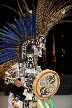 Seminole Tribal Fair - Juan Salinas (Tloke Nahuake Aztec Dancers) - Photo by James Keith