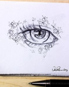Eye Drawing Design & Decoration Workbook (Printable PDF)-Learn how to draw the b. - Eye Drawing Design & Decoration Workbook (Printable PDF)-Learn how to draw the beautiful female ani - Easy Pencil Drawings, Anime Drawings Sketches, Cute Drawings, Realistic Drawings, Pencil Sketching, Beautiful Drawings, Animal Drawings, Simple Art Drawings, Hipster Drawings