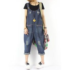 Amazing Vintage Strap Wide Legs Denim Jumpsuit For Women on Newchic, there is always a plus size jumpsuits and rompers that suits you! Wide Leg Denim, Wide Legs, Denim Jumpsuit, Overalls, Plus Size Jumpsuit, Suits You, Jumpsuits For Women, Rompers, Pure Products