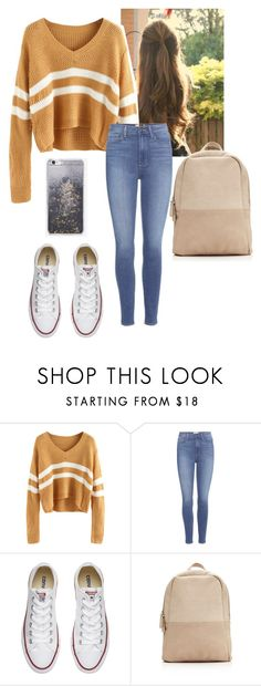 """Untitled #1268"" by onlyyou1312 ❤ liked on Polyvore featuring Paige Denim, Converse and Skinnydip"