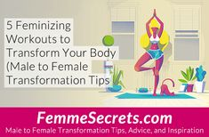 For crossdressers and MTF transgender women: Transform your body with these 5 feminizing workouts. Best of all, they're all under 12 mins long! Insanity Workout, Best Cardio Workout, Workout Tips, Workout Outfits, Workout Plans, Workout Fitness, Workout Gear, Fitness Diet, Male To Female Transformation