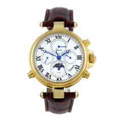 STAUER - a gentleman's Graves 33 wrist watch. Gold plated case with exhibition case back. Numbered D