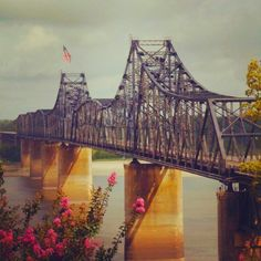 Mississippi river bridge is a moveable bridge spanning 5257 feet in Fort Madison, Iowa.  It was built in 1927.