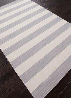 Dias Collection from Jaipur - Gray and White Striped Area Rug