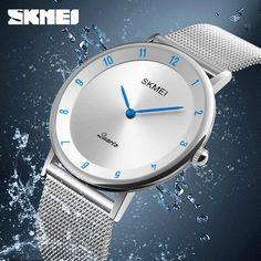 2017 Luxury Matal Steel Wristwatches Charm Unisex Watch Quartz Stainless Steel Back