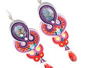 Oriental Silk and Silver - Soutache Earings   Meamoore