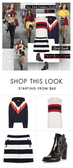"""""""NYFW  SS2017 First Look Tommy Hilfiger"""" by stylepersonal ❤ liked on Polyvore featuring Tommy Hilfiger, tommyhilfiger and NYFWSS17"""