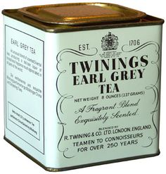 Twinings - Earl Grey Tea. Earl Grey tea, a blend which uses bergamot oil to flavor the beverage, is named after Charles Grey, 2nd Earl Grey, the Prime Minister of Great Britain from 1830 to 1834.