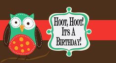 Hoot out it's your #birthday with a collection of exciting #HappyBirthday #quick & #classy #OnlineInvitation by #123Invitations.
