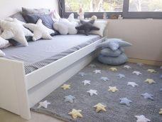 Alfombra habitación niño Estrellas tricolor