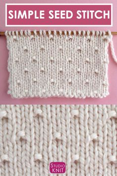 This Simple Seed Stitch is a vintage knitting pattern with a Stockinette background punctuated with alternating rows of raised purl stitches. - This Simple Seed Stitch is a vintage knitting pattern with a Stockinette background punctuated with - Knitting Stiches, Knitting Charts, Easy Knitting, Knitting Patterns Free, Knit Patterns, Stitch Patterns, Knit Purl Stitches, Sock Knitting, Vogue Knitting