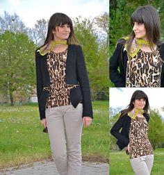 Leo print vest  (by Lucy D) http://lookbook.nu/look/3303151-Leo-print-vest
