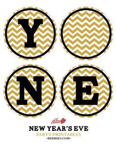 DIY: Printable Happy New Year Banner