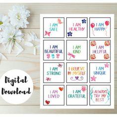 Positive affirmation cards for kids!