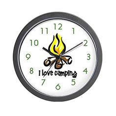 CafePress  Camping Wall Clock  Unique Decorative 10 Wall Clock ** This is an Amazon Affiliate link. Click image to review more details.