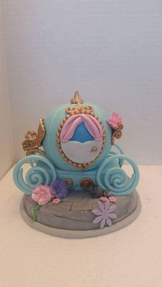 Cinderella carriage Edible Cake Topper by sugarcreations01 on Etsy