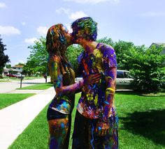 """Paint Fight! just like in """"10 things i hate about you"""""""