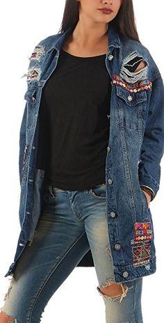 Jeansjacke blumen patches