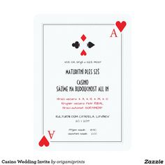 Casino Wedding Invite